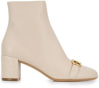 Salvatore Ferragamo heeled Gancini boots