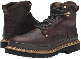 Georgia Boot G6374 6 Safety Toe Georgia Giant (Brown) Men's Work Lace-up Boots