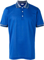 Brioni collar detail polo shirt