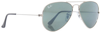 Singer22 Rb3025 Aviator Silver Mirror Metal 55mm Sunglasses