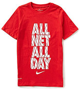 Nike Big Boys 8-20 All Net All Day Short-Sleeve Tee