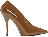 Stella McCartney Tan Patent Pointed Heels