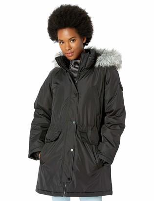 Skechers Women's Warm Winter Coat with Faux-Trimmed Hood