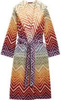 Missoni Home Tolomeo Cotton-terry Robe - Purple