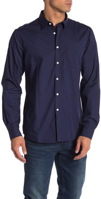 Indigo Star Sans Triangle Long Sleeve Tailored Fit Shirt