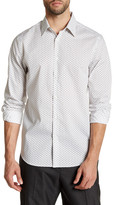 Perry Ellis Geo Long Sleeve Stretch Fit Shirt