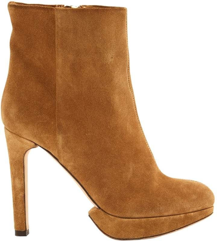 HUGO BOSS Brown Suede Ankle boots