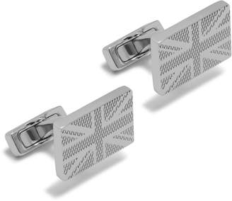 Mulberry Rectangular Flag Cufflinks Silver Metal