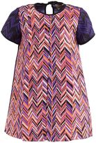Roksanda Ilincic Purple Silk Herringbone Shift Dress