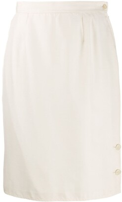 Valentino Pre-Owned 1980's Straight Fit Skirt