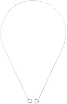 Marla Aaron 2 Loop 14k White Gold Square Link Chain