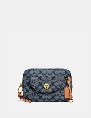 Coach Cargo Belt Bag In Signature Chambray