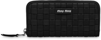 Miu Miu Interwoven Leather Logo Wallet