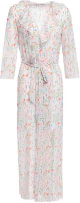 Bailey 44 Ruffled Floral-print Georgette Robe
