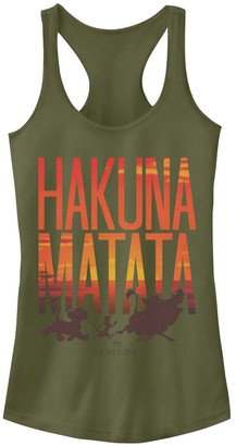 Licensed Character Juniors' Disney's Lion King Hakuna Matata Sunset Tank
