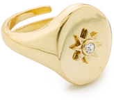Luv Aj The Revel Starburst Signet Ring