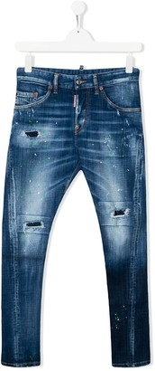 DSQUARED2 TEEN distressed skinny jeans