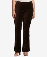 Lauren Ralph Lauren Plus Size Flared Velvet Pant