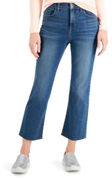 Style&Co. Style & Co Mid-Rise Kick Crop Jeans, Created for Macy's