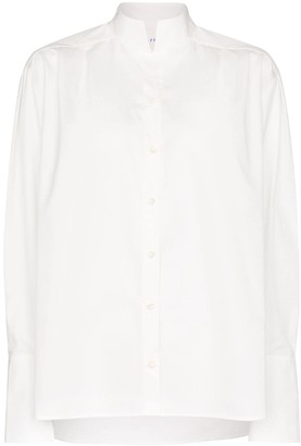 Frame Pleated Oversized Cotton Shirt