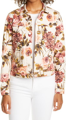 L'Agence Celine Floral Print Jacket
