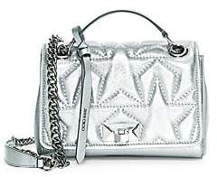 Jimmy Choo Women's Small Helia Star Metallic Leather Shoulder Bag