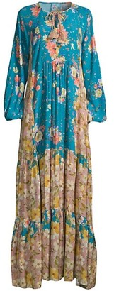 Johnny Was Penelope Floral Tunic Maxi Dress