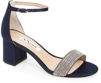 Nina Eloise Crystal Block Heel Sandal