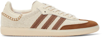 Wales Bonner Off-White and Brown adidas Originals Edition Samba Sneakers