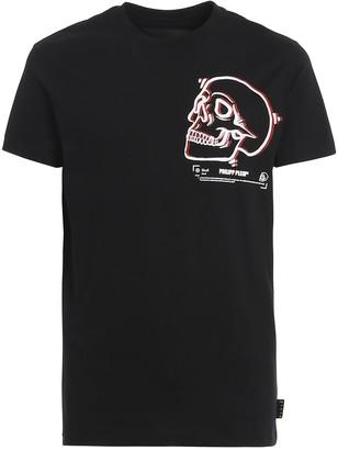Philipp Plein T-shirt Ss Outline Skull