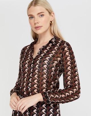 Monsoon Holly Horse Print Shirt Black