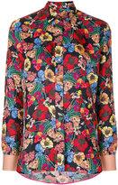 Paul Smith floral-print shirt - women - Silk/Cupro - 38