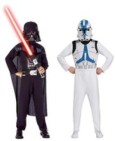 Star Wars Darth Vader & Clone Trooper Kids' Costume Set Medium (8-10)
