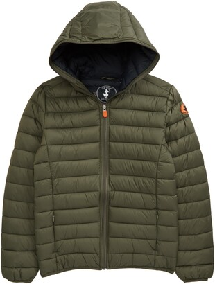 Save The Duck Kids' Giga Water Repellent Hooded Puffer Jacket