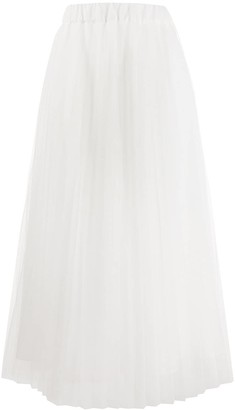P.A.R.O.S.H. Paralleled tulle A-line skirt