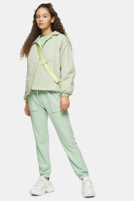 Topshop Womens Green Brushed Oversized Joggers - Green