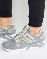 Saucony Grid 9000 Knit Pack Trainers In Grey S70302-3