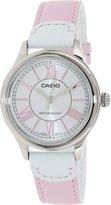 Casio Women's LTPE113L-4A1 Leather Quartz Watch