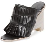 Tibi Nadine Pleated Leather Mule