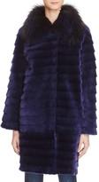 Maximilian Furs Fox Fur Collar & Lamb Shearling Coat - 100% Exclusive