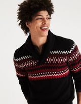American Eagle Outfitters AE Pattern Shawl Neck Sweater
