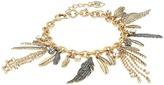 Betsey Johnson Crystal/Gold Charm Bracelet