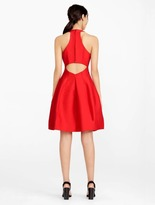 Halston Silk Faille Structured Dress With Cut Out
