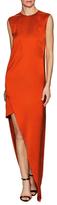 Narciso Rodriguez Twill Asymmetrical Maxi Dress