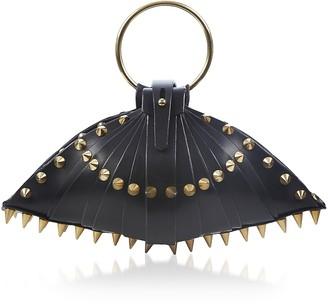 Una Burke Black Leather Warrior Shell Bag