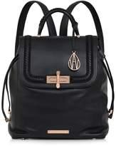 Amanda Wakeley Black Leather Braided Elba Backpack
