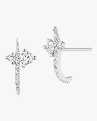 Sophie Ratner Hooked Pave Stud Earrings