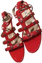 Oscar de la Renta Red Patent leather Sandals