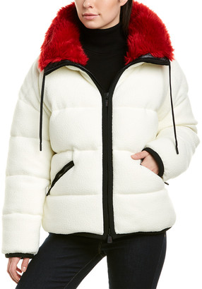 Moncler Grenoble Faux Fur Down Jacket