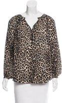 Tamara Mellon Cheetah Printed Oversize Top